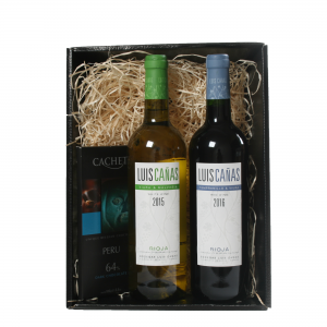 Luis Canas 75cl Twin Pack Hamper With Chocolate