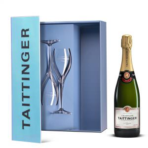 Tattinger Champagne 75cl + 2 Glasses Gift Pack
