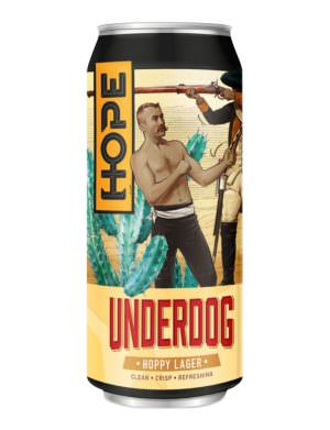 HOPE - Underdog, Hoppy Lager 4.8% 44cl Can