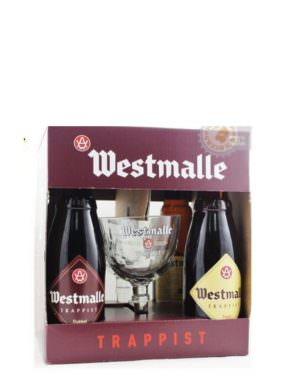 Westmalle Gift Pack - 2xDunkel, 2xTripel + Glass