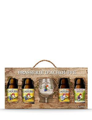Brasserie D'Achouffe 4x33cl Bottles & Glass