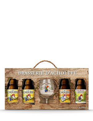 Brasserie D'Achouffe 4x33cl Bottles & Glass