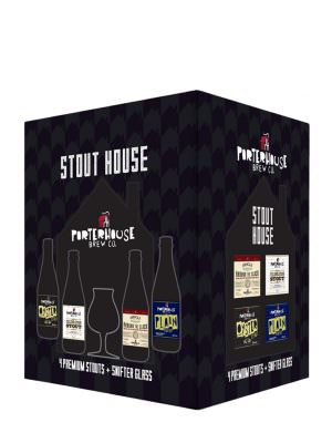 Porterhouse - Stout House Gift Pack 4x33cl + Glass