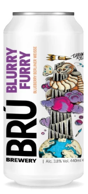 BRÚ Brewery - Blurry Furry - Blueberry Berliner Weisse
