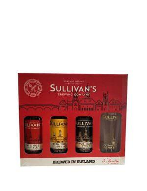 Sullivan's 3 Bottle & Glass Set