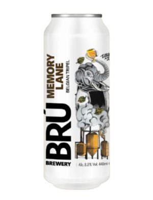 Bru Brewery Memory Lane Belgian Tripel 44cl Can