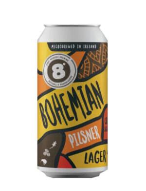 8 Degrees Bohemian Pilsner Lager 44cl Can