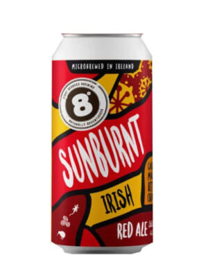 8 Degrees Sunburnt Irish Red Ale 44cl Can