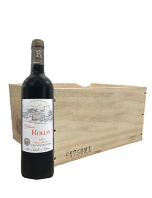 Chateau Rollin Wooden Case of 6x75cl