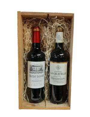 Bordeaux Twin Pack in Wooden Case 75cl